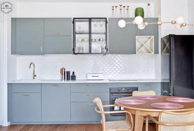Wykończenie ścian w kuchni na wiele sposobów