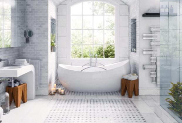 Wanny, kabiny, deszczownice, czyli standardowe wyposażenie łazienki w perfekcyjnym wykonaniu